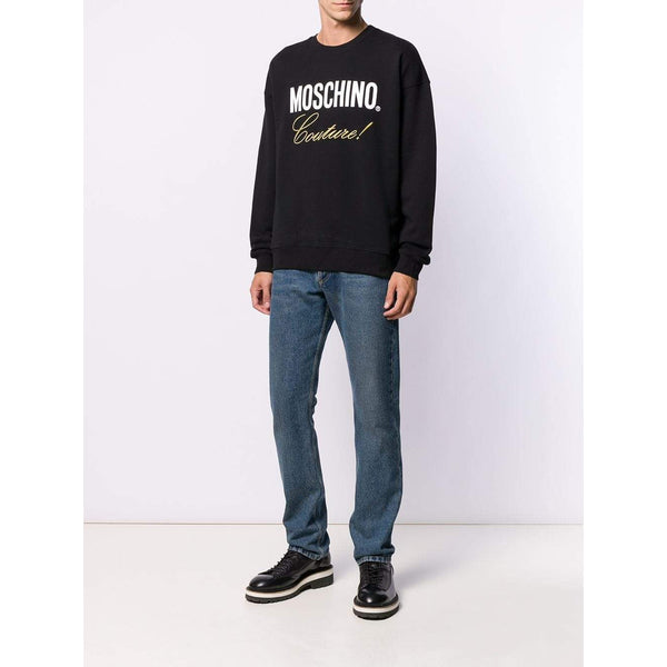 MOSCHINO Logo Printed Sweatshirt, Black