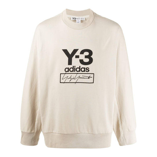 Y-3 Stacked Logo Sweatshirt, Cream