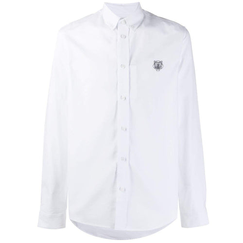 KENZO Embroidered Tiger Shirt, White