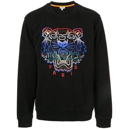 KENZO 'Hiking Tiger' Embroidered Hoodie, Anthracite