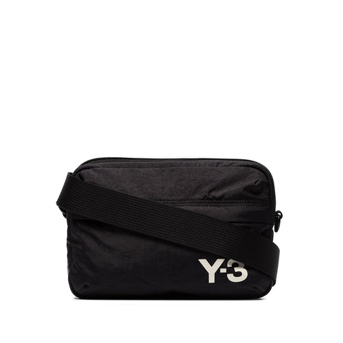 Y-3 Logo Cross-Body Bag, Black