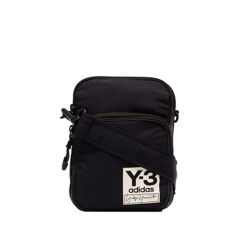 Y-3 Airliner Logo Patch Messenger Bag, Black