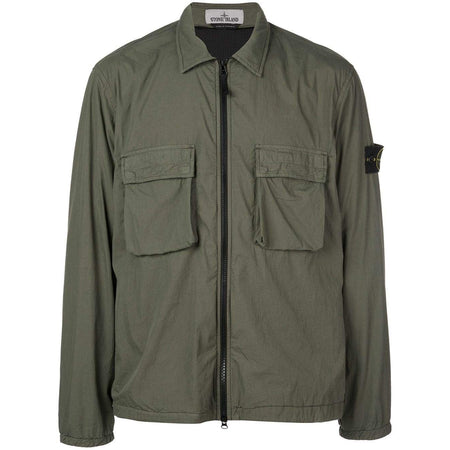 STONE ISLAND 'Old' Dye Treatment Overshirt, Beige
