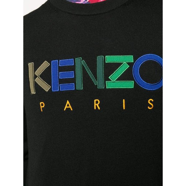 KENZO Logo Embroidered Sweater, Black