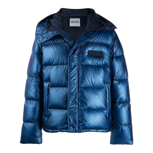 KENZO Hooded Padded Jacket, French Blue