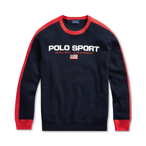 POLO RALPH LAUREN Ralph Lauren Men's Cotton Sweater, Navy