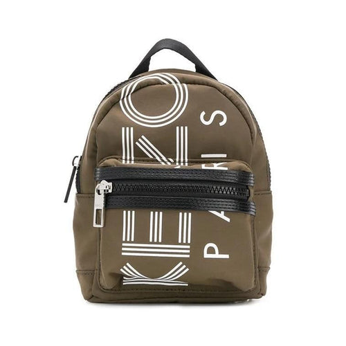 KENZO Logo Print Mini Backpack, Khaki