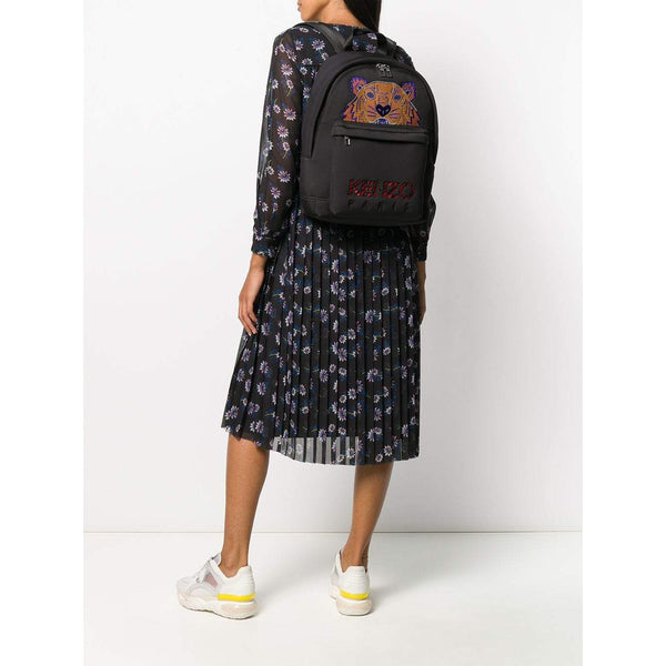 KENZO Large Tiger Logo Embroidered Backpack, Black