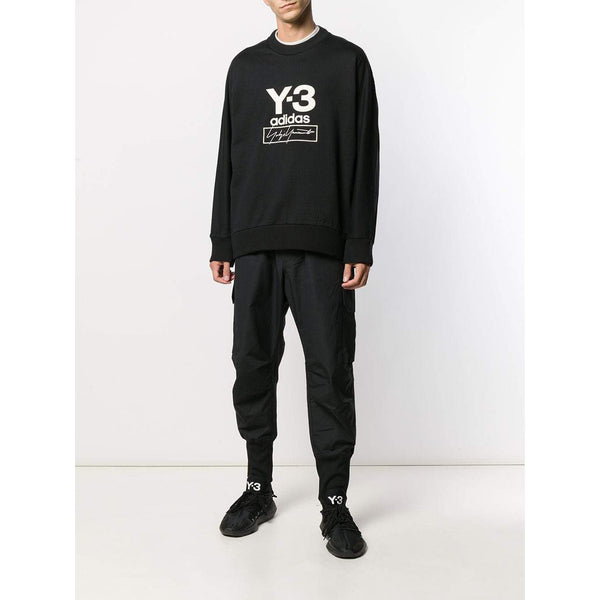 Y-3 Stacked Logo Sweatshirt, Black