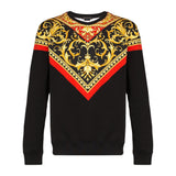 VERSACE Baroque Print Sweatshirt, Black/ Multi