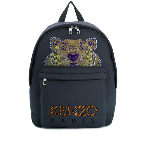 KENZO Large Tiger Logo Embroidered Backpack, Anthracite
