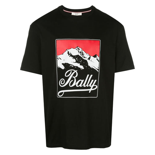 BALLY Logo Print T-Shirt, Black