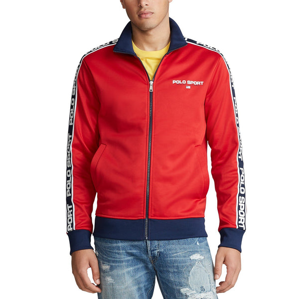 POLO RALPH LAUREN Tricot Zip-Front Fleece Sweatshirt, RL2000 Red
