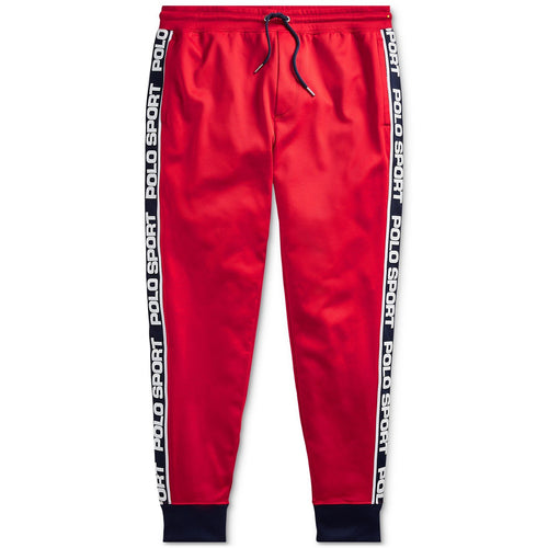 POLO RALPH LAUREN Men's Logo-Tape Fleece Track Pants, RL2000 Red