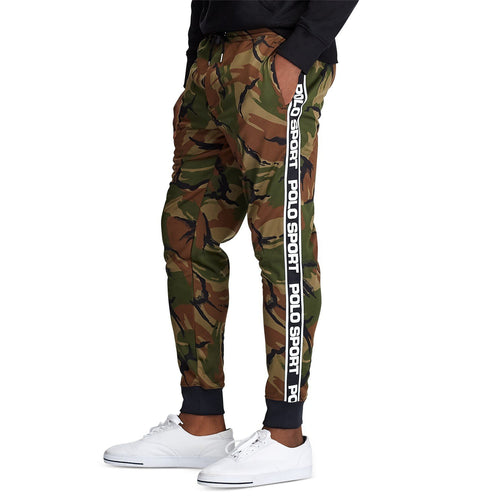 POLO RALPH LAUREN Polo Sport Camo Fleece Track Pants, British Elmwood Camo