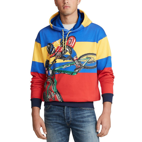 POLO RALPH LAUREN Cotton Interlock Graphic Hoodie, Multi