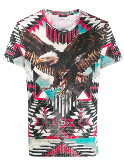 BALMAIN Eagle Print T-Shirt, Multi