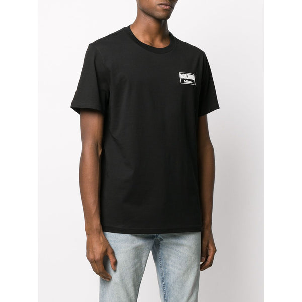 MOSCHINO Logo Patch T-Shirt, Black