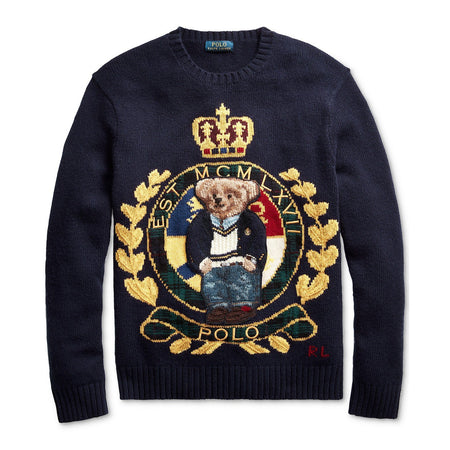 POLO RALPH LAUREN Ski Bear Sweatshirt, White/ Multi