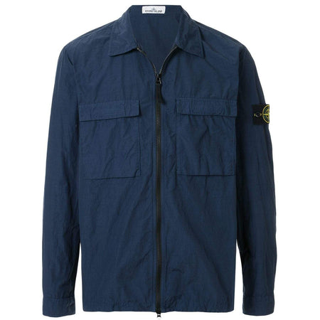 STONE ISLAND Garment Dyed Nylon Metal Patch Logo Swim Short, Blue Marine