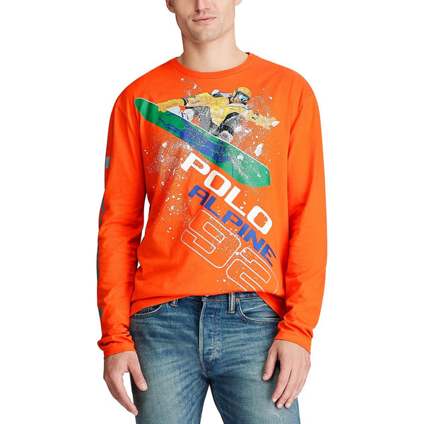 POLO RALPH LAUREN 92 Alpine Snowboard Long Sleeve T-Shirt