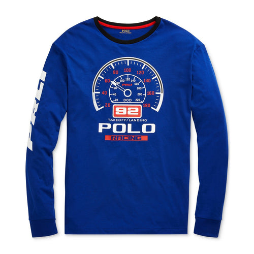 POLO RALPH LAUREN Classic Fit Cotton Graphic T-Shirt, Active Royal