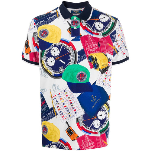 POLO RALPH LAUREN Yacht Print Polo Shirt