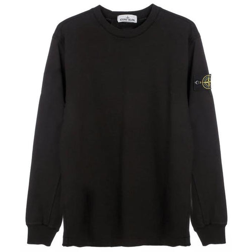 STONE ISLAND Heavyweight L/S Shirt, Black