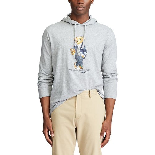 POLO RALPH LAUREN Polo Bear Hooded T-Shirt, Andover Heather