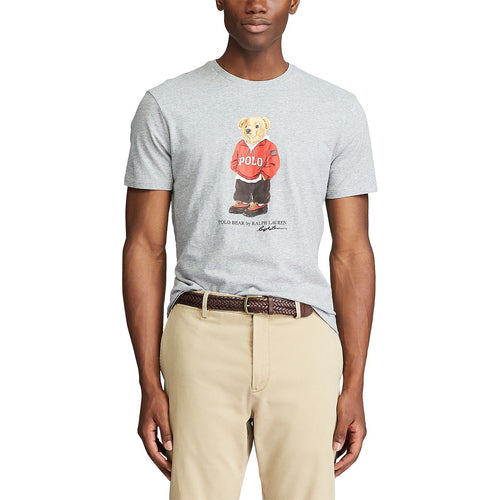 POLO RALPH LAUREN Custom Slim Fit Bear T-Shirt, Grey
