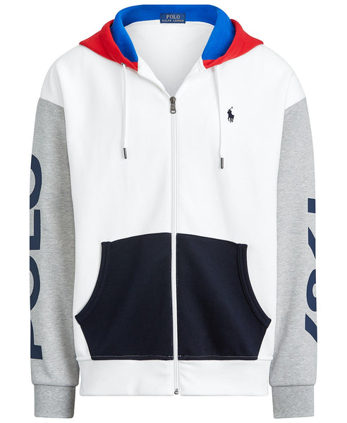 POLO RALPH LAUREN Color-Blocked Logo Hoodie, White/ Multi