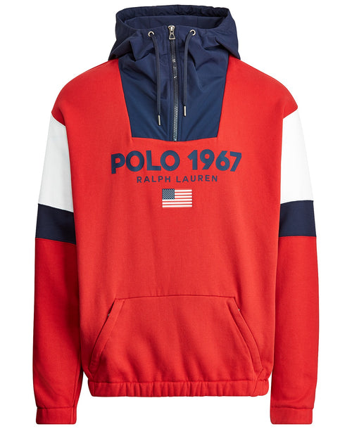 POLO RALPH LAUREN Polo Fleece Hoodie, Polo Sport Red/ Multi