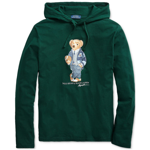 POLO RALPH LAUREN Polo Bear Hooded T-Shirt, College Green