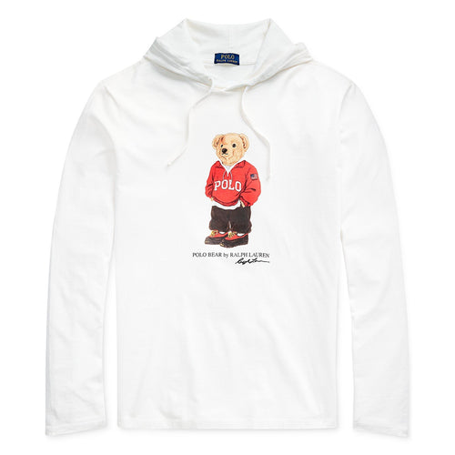 POLO RALPH LAUREN Polo Bear Hooded T-Shirt, Deckwash White