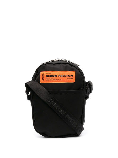 HERON PRESTON NYLON CROSSBODY, BLACK