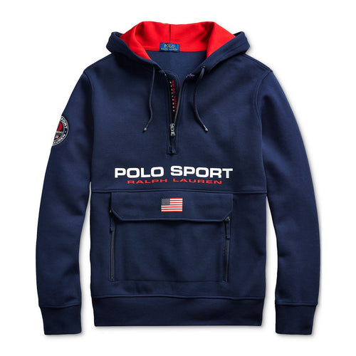POLO RALPH LAUREN Double-Knit Polo Sport Hoodie, Navy