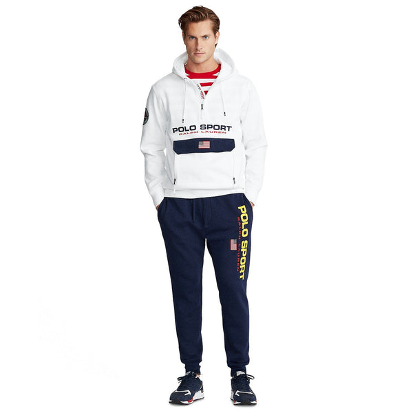 POLO RALPH LAUREN Double-Knit Polo Sport Hoodie, White