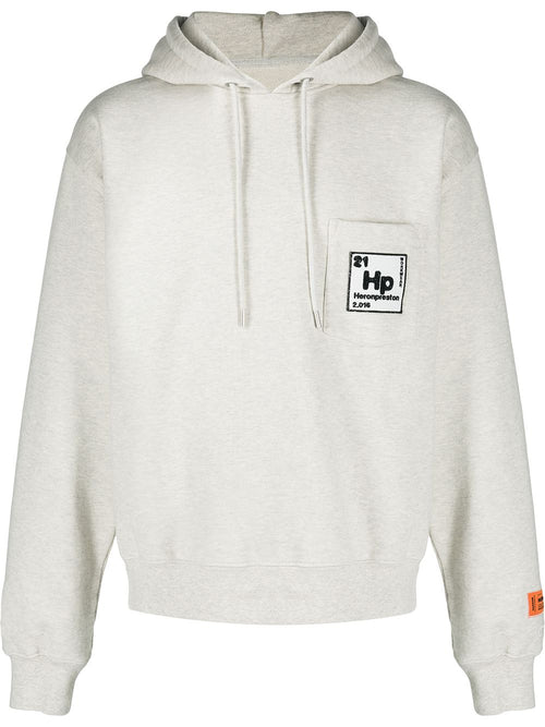 HERON PRESTON PERIODIC POCKET HOODY, GREY