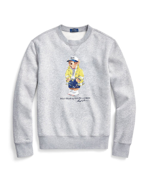 POLO RALPH LAUREN Denim Bear Fleece Sweatshirt, Grey