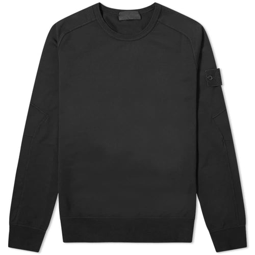 STONE ISLAND Ghost Piece Crewneck Sweatshirt,Black