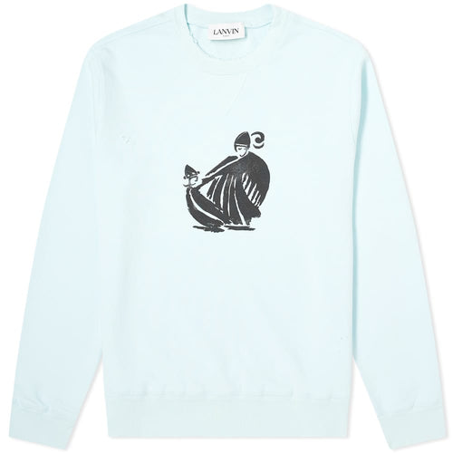 LANVIN MOTHER AND DAUGHTER PRINT SWEATSHIRT