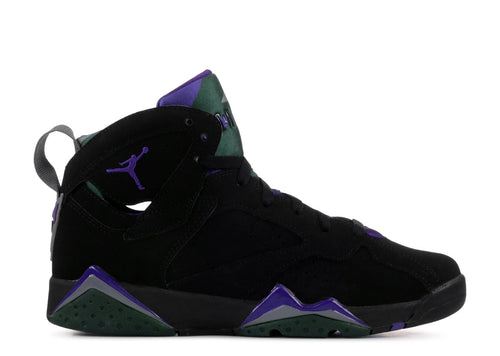 BOYS AIR JORDAN VII RETRO (GS) BLACK/FIELD PURPLE-FIR-DARK STEEL GREY