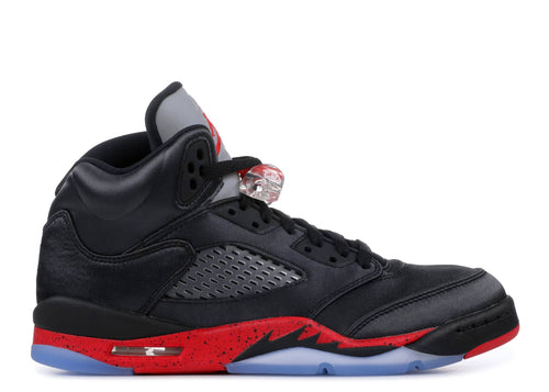 BOYS AIR JORDAN 5 RETRO (GS) BLACK/UNIVERSITY RED