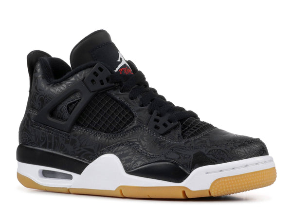 AIR JORDAN 4 RETRO SE (GS) BLACK/WHITE-GUM LIGHT BROWN