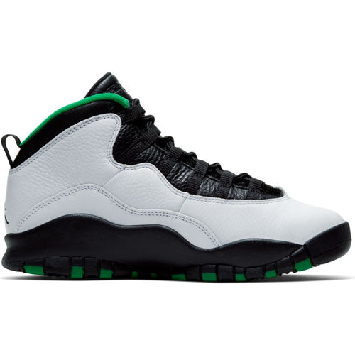 AIR JORDAN RETRO 10 (GS) WHITE/BLACK-COURT GREEN-AMARILLO
