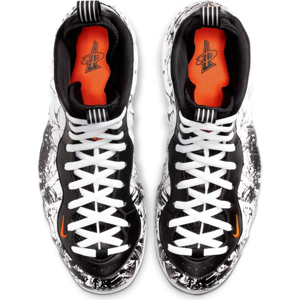 MENS NIKE AIR FOAMPOSITE 1 BLACK/TOTAL ORANGE-WHITE