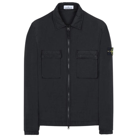 STONE ISLAND Dyed Canvas Overshirt Jacket, Orange