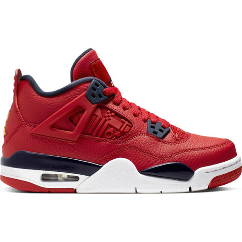 AIR JORDAN 4 RETRO GYM RED/OBSIDIAN-WHITE-METALLIC GOLD (GS)
