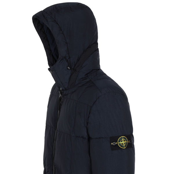 STONE ISLAND Quilted Down Jacket, Blue