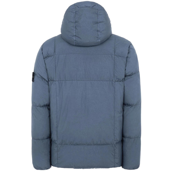 STONE ISLAND Quilted Down Jacket, Avio Blue